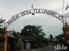 Gerbang ke desa Tulung Rejo